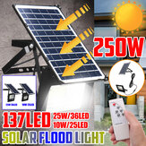 250W Solar Light LED Street Floodlight Garden Spotlight Remote Control