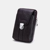 Men Genuine Leather 6.3 Inch Phone Bag Waist Bag Belt Bag