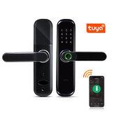 Tuya WiFi ujjlenyomat intelligens ajtózár Inteligent digitális ajtózár elektronikus jelszó RFID kártya APP feloldás otthoni zár