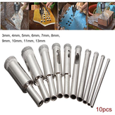 Drillpro DB-HS3 10pcs Diamante Hole Saw Broca Bit Set 3 milímetros-13 milímetros Azulejo Cerâmica Vidro Porcelana Marble Hole Saw
