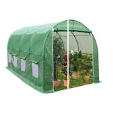 360 x 215 x 220cm Durable Large Greenhouse Insulation Walk in Outdoor Plant Gardening Hot Tunnel Greenhouse with Stand