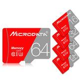 MicroData 16GB 32GB 64GB 128 GB Classe 10 ad alta velocità Max 80 Mb / s Scheda di memoria TF con adattatore per tablet GPS fotografica Auto DVR Drone