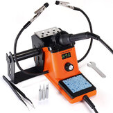YIHUA 926 III 60W Welding Soldering Iron Station Digital 194ºF~896ºF Adjustable Temp °C/ºF Sleep & Calibration Functions with 2 Helping Hands + 3 Extra Solder Tips & Tweezers