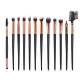 Professional 12Pcs Cosmetic Eye Makeup Brush Eyeliner Lip Make Up Eye Brushes Set