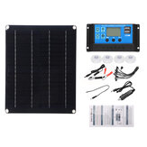 30A-90A Portable Matte PET Solar Panel Battery Charger LCD Controller Kit