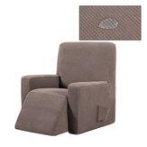 غطاء أريكة للتدليك غير قابل للإزالة قابل للإزالة من الصوف القابل للتمدد واقي كرسي هزاز نقي اللون غطاء مقعد مرن شامل كليًا للمكتب المنزلي