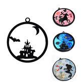 Acryl DIY Frame Bezel Hanger Zwart Plastic UV Resin Box Kerst Decoratie Cadeau 8 Patroon Met Gat