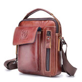 Bullcaptain Hakiki Deri Business Messenger Çanta Vintage Crossbody Çanta For Men
