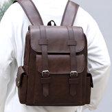 Men Vintage 14-calowy plecak na laptopa o dużej pojemności