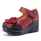 SOCOFYالرجعيةالجلودزهرةأحذيةللنساء