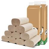 16 Rolls / Pack Tanpa Biji Kertas Menebal Bambu Pulp Alami Toilet Handuk untuk Rumah Tangga Sehari-hari Membersihkan Kamar Mandi Dapur