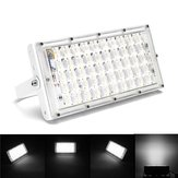 50W White Light LED Flood Light Impermeabile White Shell Landscape Garden lampada per Outdoor AC185-265V