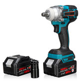 21V 330Nm 10000mAh ليثيوم Electric Impact Wrench Cordless with 2 Batteries