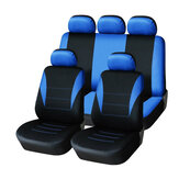 Protetor de tampa de assento de carro azul e preto de Four Seasons Blue Black 9pc Full Set Airbag Compatible
