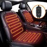 AUDEW 2PCS coussin de siège de voiture chauffant hiver chaud contrôle universel