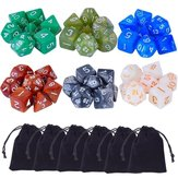 42 pc di polihedral Board RPG MTG gioco Dice 6 set 4D 6D 8D 10D 12D 20D + 6 sacchetto