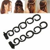 Waterfall Twist Roller Back Tạo kiểu tóc Clip Stick Bun Maker Braid Tool Phụ kiện tóc