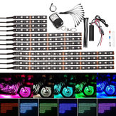 5050 LED Lampeggiante Strip Light RGB 15 Color 12 Strips Glow Neon Wireless remoto Motorcycle