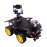 Yahboom 4WD Wireless WIFI Video Robot Car Kit for Raspberry Pi 3B/3B+ Support Programming/bluetooth 4.0+Wifi/Remote Control with 2DOF Camera Pan/Tilt