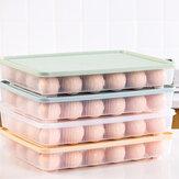 Bakeey Kitchen 24 Grille Egg Carton Réfrigérateur Boîte De Rangement Portable Pique-Nique En Plastique Oeuf Carton Oeufs