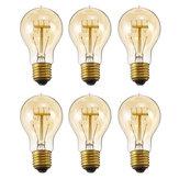 6 PCS E27 A19 40 W Branco Quente Pode Ser Escurecido Incandescente Edison Lâmpada para Casa Interior Jardim AC220V