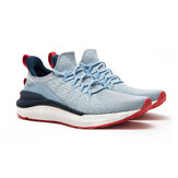 Xiaomi Mijia Sneakers 4 Lavable en Machine Ultralight Cloud Elastic PU Midsole 4D Fly Woven Fishbone Lock System Antibacterial Sports Chaussures de course Hommes Sneakers