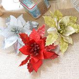 Giáng sinh long lanh hoa rỗng trang trí hoa nhân tạo cho cây Giáng sinh năm mới