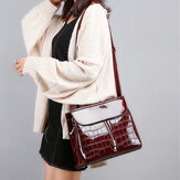 Women Fashion Portable Patent Leather Handbag