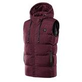 Unisex USB Heating Electric Heated Winter Warm Jacket Hooded Coat Clothing M-7XL