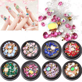 1 Bouteille Diamants Nails Autocollant Colorful Perles Cristal