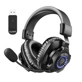 EasySMX V07W 2.4G Wireless Gaming Headset with Microphone and Volume Control RGB Gradient Lighting Suitable for PS4/5 PC Laptop