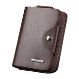 Mannen PU Leather Minimalist Rits Wallet Multifunctionele Multicard Card Holder