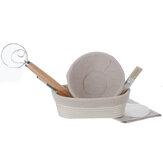 7Pcs Baking Fermentation Basket Set Oval Dough Rattan Bread Proofing Scraper Anti-mildew Rattan Kitchen Supplies