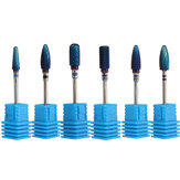Pro Electric Blue Cylinder Carbure revêtu de foret de fichier Nail Art Manucure Pedicure Kit