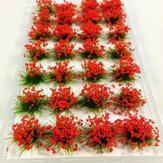28Pcs Scene Mini Flower Cluster Modelo em miniatura Landscape Sand Table Decorations