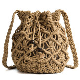 Frauen Hohl Woven Crossbody Bag Straw Bag