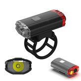 XANESXL23650LMHelemFahrrad-Fahrrad-Scheinwerfer-Rücklicht2 in 1 USB aufladbare wasserdichte Radfahrenfrontbeleuchtung