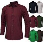 Multi-Color-Fashion Unique Ausschnitt Männer nehmen Langarm Shirt Dress