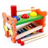 2 en 1 instruments de musique d'éducation de robinet en bois de xylophone pour des enfants