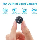 1920*1080P HD DV Mini Recorder FPV Camera FOV 140 Degree Built-in Battery Support 32G SD Card