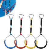 4PCS/Set Children Backyard Toys Infantil Hanging Rings Kids Climbing Swing Rings Outdoor Gymnastic Ring