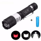 Elfeland  T6 3Modes 2000LM USB Rechargeable Zoomable LED Flashlight+18650