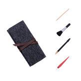 5 in 1 Çizim Aletler Set Scratch Kalem Fırça Ahşap Kalem Depolu Kırmızı Kazıyıcı Çanta