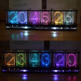 Geekcreit® Upgrade Boldfaced Word DIY Imitate Glow Reloj Kit Tubo luminoso RGB a todo color Reloj LED Kit Music Spectrum DS3231