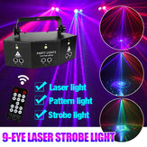 9-EYE LED Stage Light RGB DMX Scan proiettore Laser Strobe DJ lampada con remoto Controllo per Performance KTV