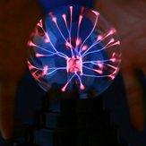 3 дюймов Бабочка Плазменный Шар Световой Стол Лампа Прохладный Волшебный Fun Science Electricity Desktop Decor