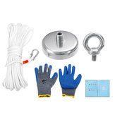 60mm Powerful Magnet Metal Detector Salvage Tool Recovery Sea 130KG + Gloves