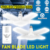 60W E26 LED Blades Garage Light Bulb Workshop Deformable Adjustable Lamp 85-265V