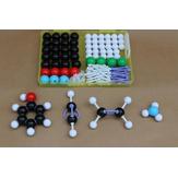 136Pcs Kit modello di struttura molecolare chimica Kit molecole di legami atomici di chimica generale e organica Medico Set