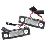 2Pcs LED License Plate Lights White for Skoda Octavia ll Facelift 2009-2012